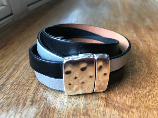 #30 Natural leather and magnetic clasp, $39