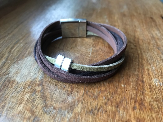 #26 Natural leather and magnetic clasp, $29