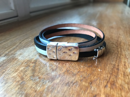 #24 Natural leather and magnetic clasp, $34
