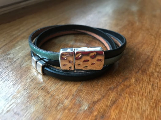 #16 Natural leather and magnetic clasp, $34
