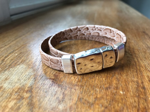 #13 Natural leather and magnetic clasp, Hypoallergenic, $37