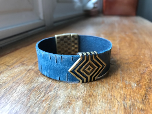 #5 Natural leather and magnetic clasp, $37
