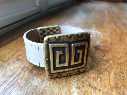 #4 Natural leather and magnetic clasp, $36