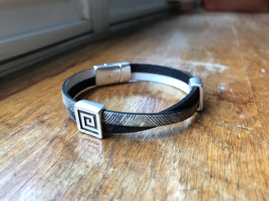 #3 Natural leather and magnetic clasp, Hypoallergenic, $32