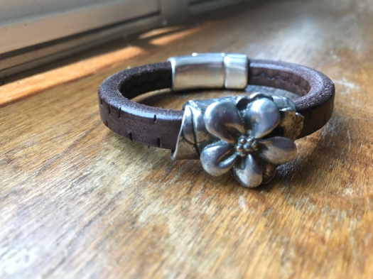 #38 Natural leather and magnetic clasp, Hypoallergenic, $49