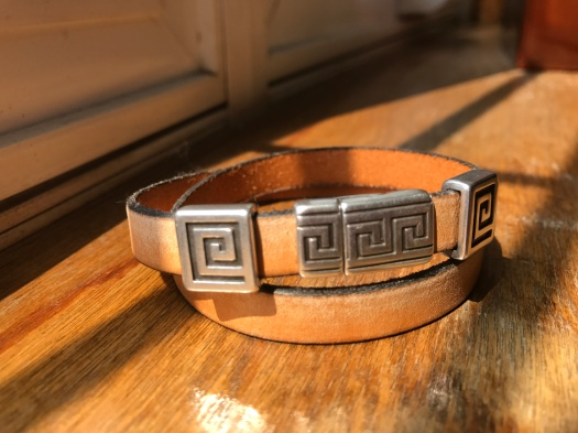 #36 Natural leather and magnetic clasp, Hypoallergenic, $37